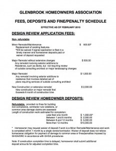 Fees, Fines, Deposits and Penalties
