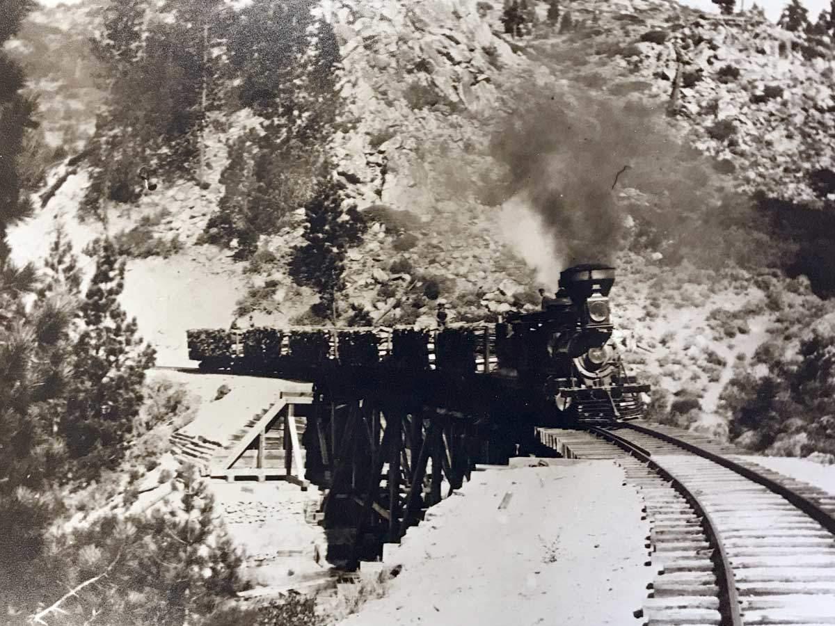 Tahoe Train c1880
